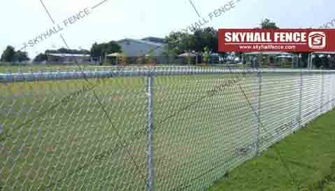 What is chain link fence made of
